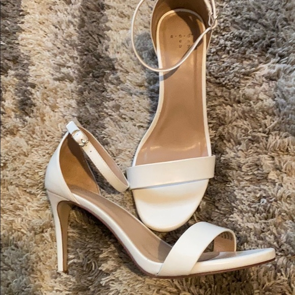 a new day Shoes | White Sandal Heels